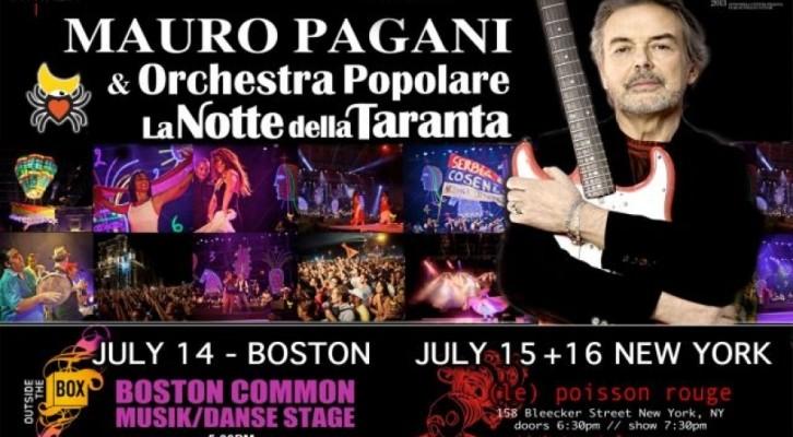 Mauro Pagani dirige a New York La notte della Taranta