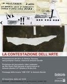 La contestazione dell'arte di Stefano Taccone alla mostra di Antonio Davide