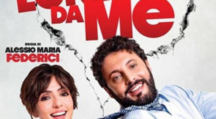 Enrico Brignano  e Ambra Angiolini  al cinema con Stai lontana da me