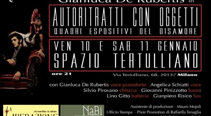 Autoritratti con Oggetti, spettacolo concerto teatrale di Gianluca De Rubertis