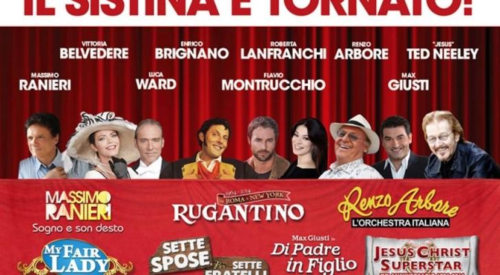 Teatro Sistina: oltre 6 milioni di euro d'incassi e 150mila biglietti già venduti in soli 3 mesi