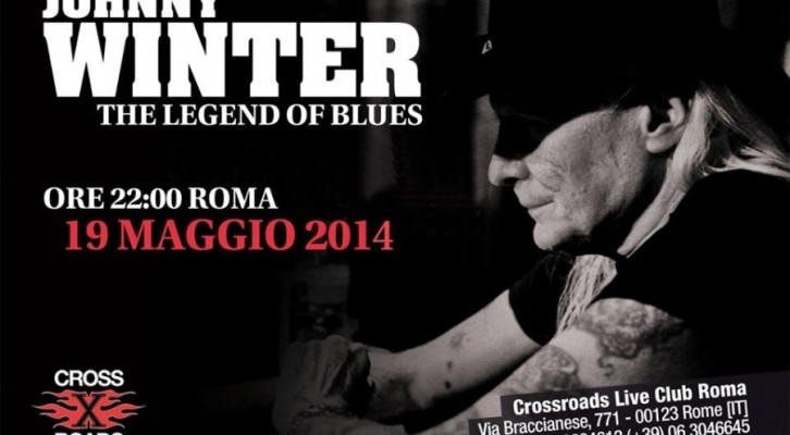 Johnny Winter, l'eroe del blues bianco in concerto a Roma