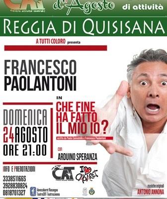 """Francesco Paolantoni in """"Che Fine ha fatto il mio Io?"""""""