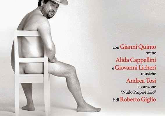 Al teatro Ghione in scena Rodolfo Laganà col suo Nudo Poprietario