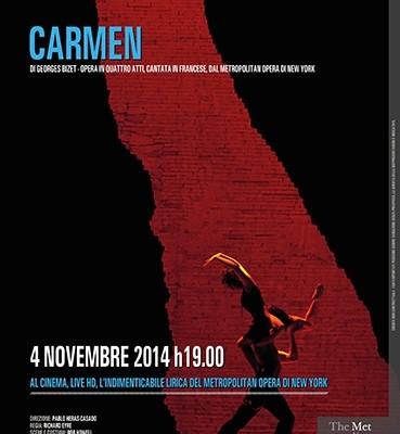 Carmen di Georges Bizet arriva al cinema in diretta satellitare dal Metropolitan opera di New York