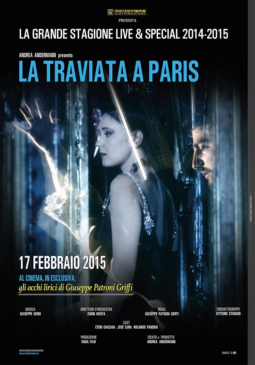La Traviata à Paris, solo per un giorno al cinema