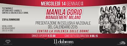 Manila Gorio, un calendario 2015 contro la violenza sulle donne