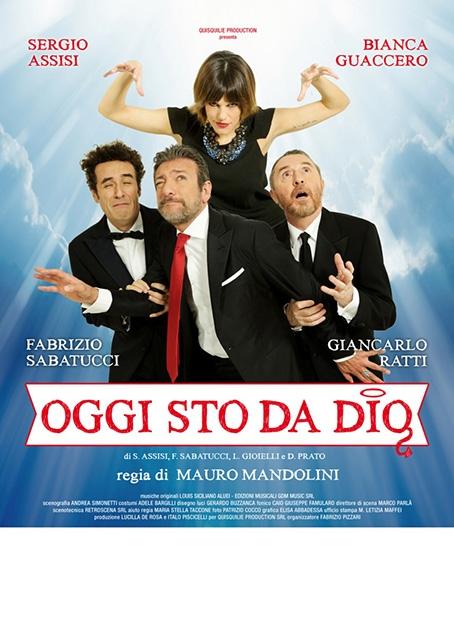 """Sergio Assisi e Bianca Guaccero in """"Oggi sto da Dio"""""""