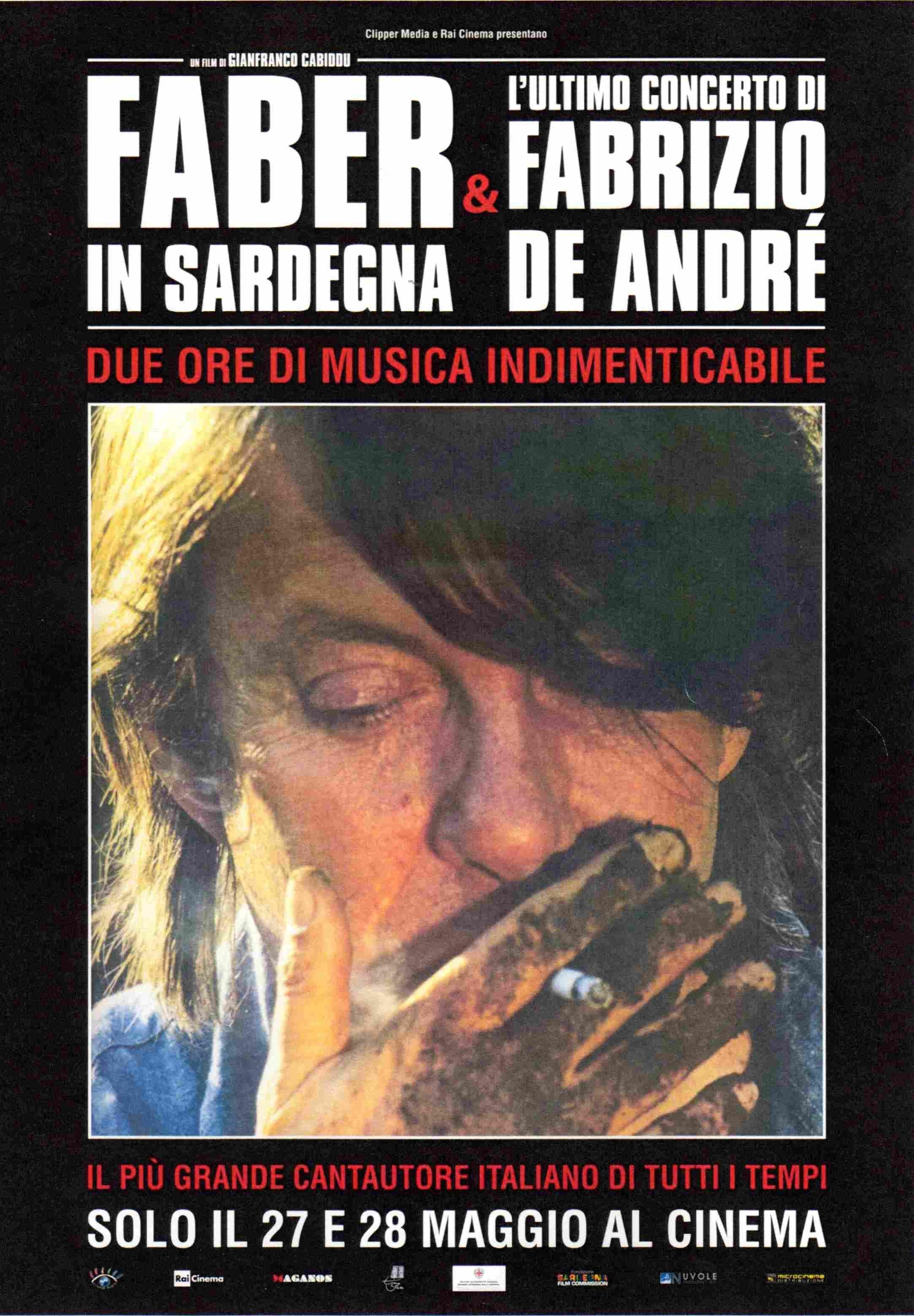 """Al cinema """"Faber in Sardegna & L'ultimo concerto di Fabrizio De André"""""""