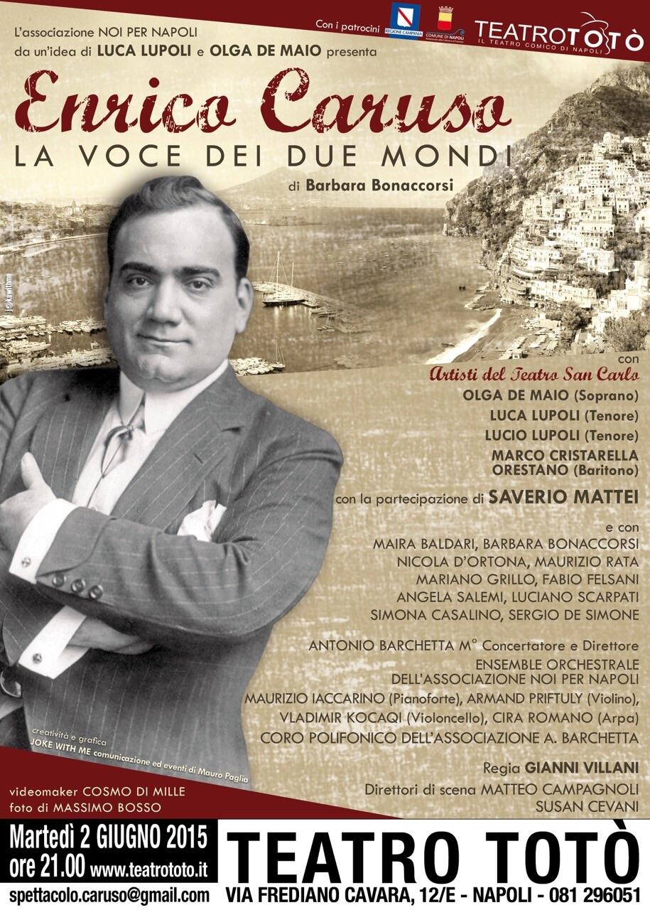 Enrico Caruso in scena al Teatro Totò