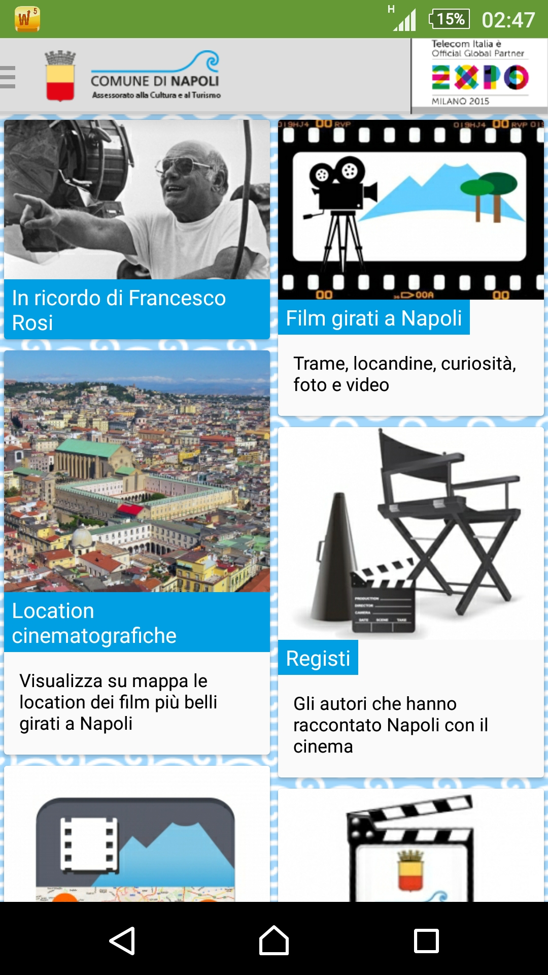 Nasce la app NapoliMovieTour