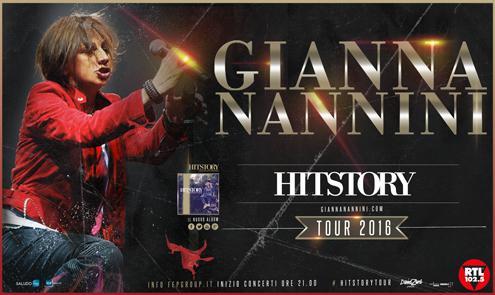 Hitstory Tour 2016 di Gianna Nannini