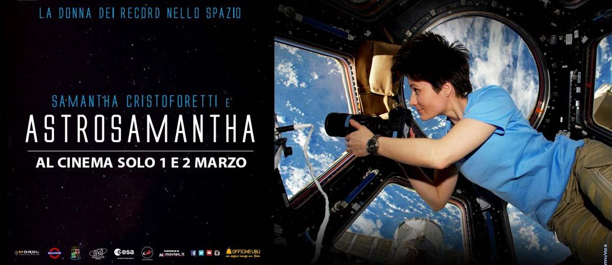 Astrosamantha –  la donna dei record nello spazio arriva al cinema