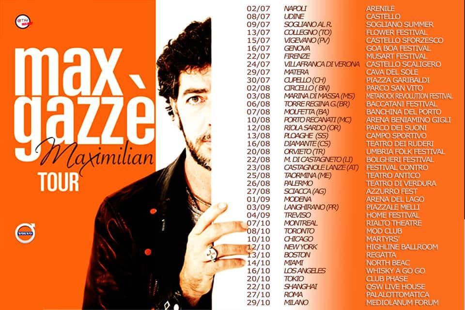 Anteprima a Napoli del Maximilian Tour di Max Gazzè