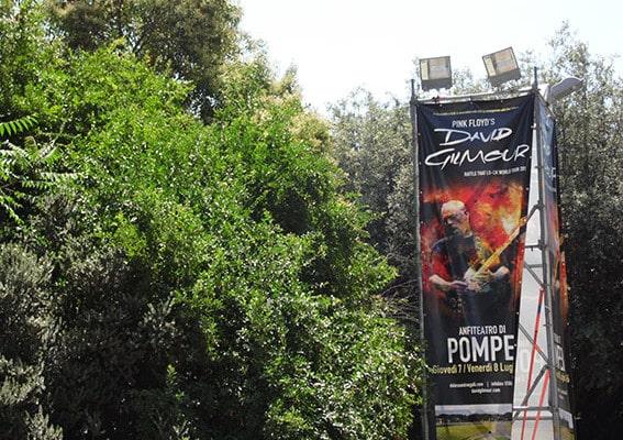 I due giorni di David Gilmour a Pompei