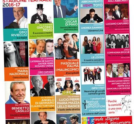 La nuova stagione 2016-2017 del Teatro Totò