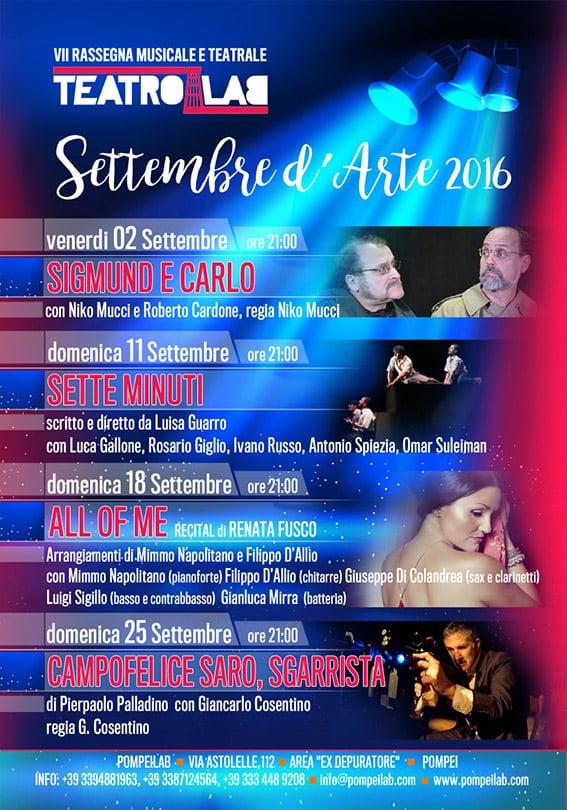 """""""Settembre d'arte"""", settima rassegna del TeatroLab"""