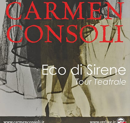 """Carmen Consoli torna a teatro con il nuovo progetto """"Eco di sirene"""""""