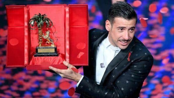 Francesco Gabbani, Fiorella Mannoia ed Ermal Meta sul podio della 67 esima edizione del Festival di Sanremo