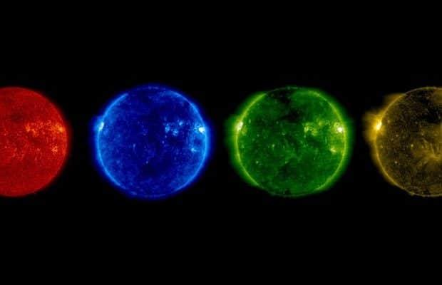 Immagini del Sole scattate durante il solstizio d'estate