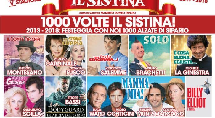 """""""Mille volte Il Sistina"""", la quinta stagione diertta da Massimo Romeo Piparo"""