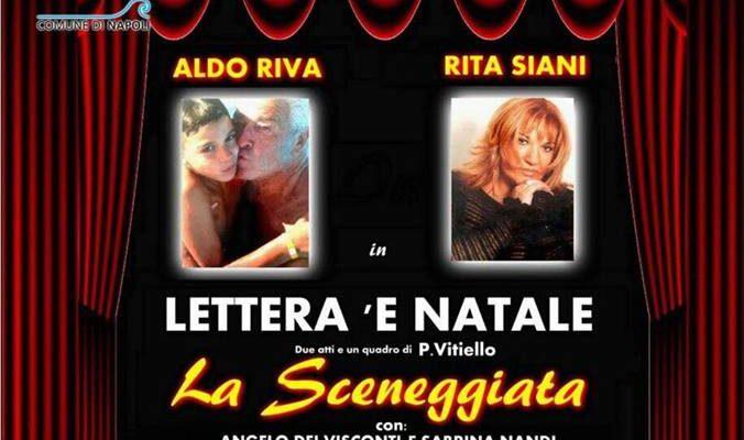 """Al Teatro Totò, Rita Siani e Aldo Riva in """"Lettera 'e Natale"""""""