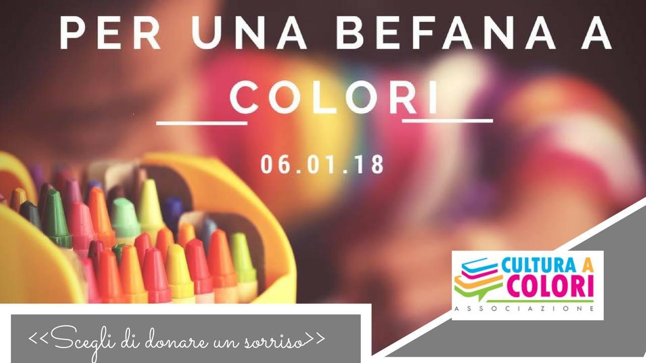 """""""Per una Befana a Colori"""": l'iniziativa di """"Cultura a colori"""""""