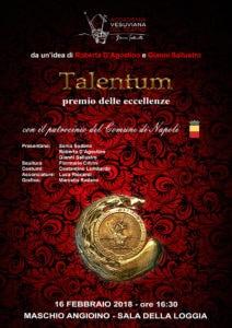 """""""Talentum - Il premio delle eccellenze"""" in dedica a Michele Del Grosso (Locandina A3 ridotta 212x300)"""