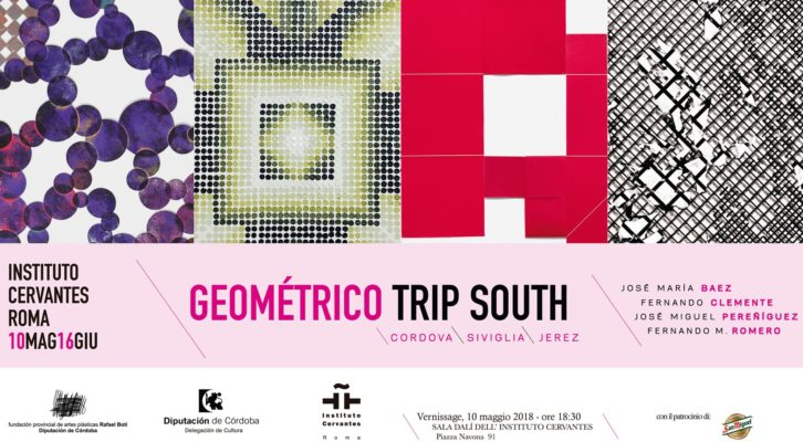 """""""Geometrico Trip South"""": in mostra nella Sala Dalì dell'Instituto Cervantes di Roma"""
