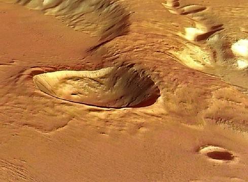 Il deposito vulcanico più grande dell'intero Sistema Solare è su Marte