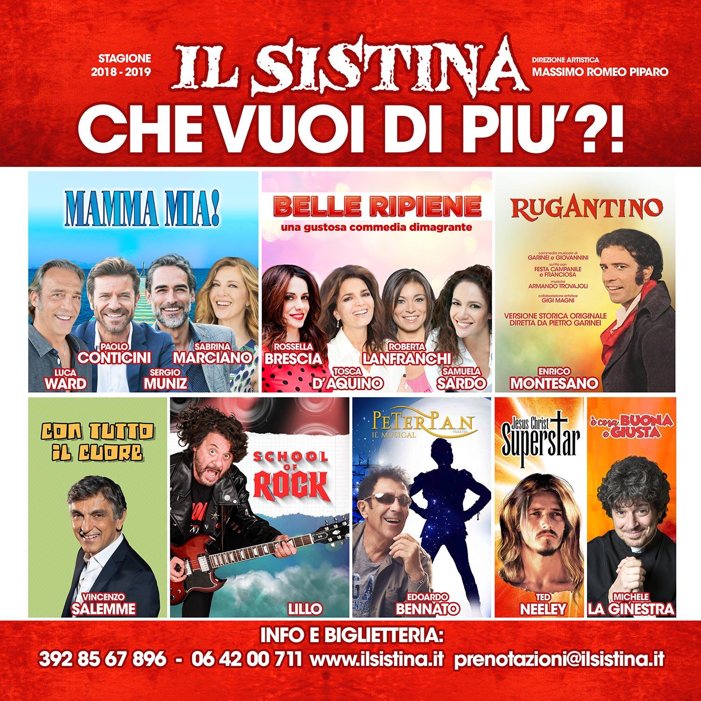 Il Teatro Sistina presenta la sua stagione 2018/2019