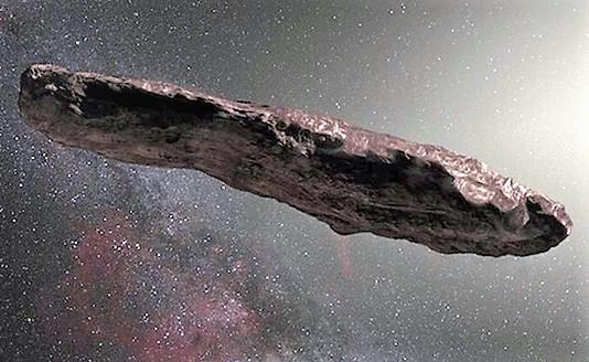 Intruso del Sistema solare che fa sognare ed avanzare l'ipotesi del veicolo alieno