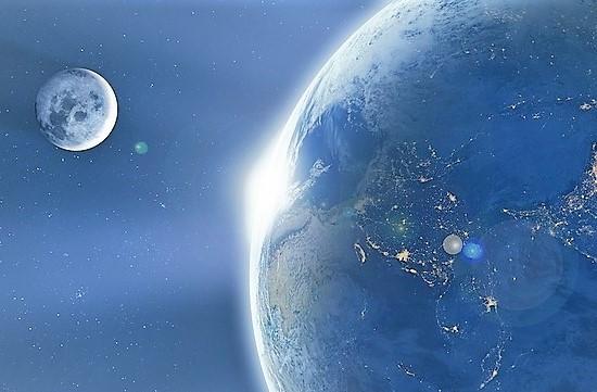 Le giornate sulla Terra sono state allungate dalla Luna