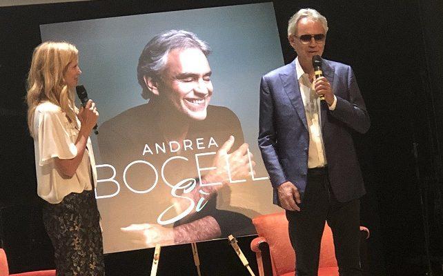 """Andrea Bocelli presenta """"Sì"""": «È un album che rispecchia la mia sensibilità»"""