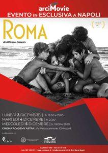 """""""Roma"""" il film di Alfonso Cuaron in esclusiva a Napoli dal 3 al 5 dicembre (LOCANDINA ROMA 212x300)"""