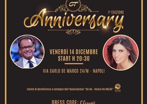 """GT Anniversary, Gran Galà di beneficenza a sostegno dell'Associazione onlus """"Dolore no"""""""