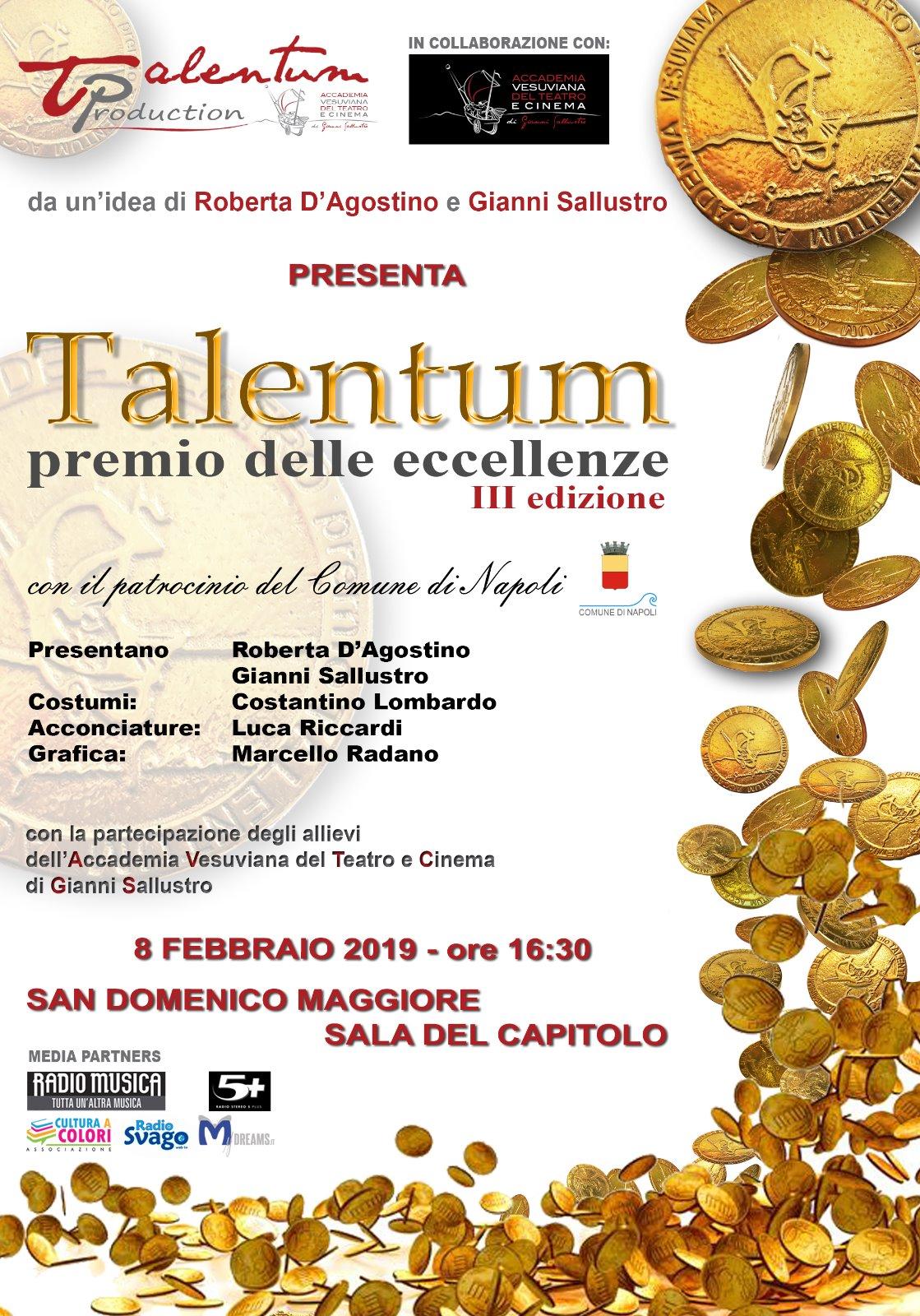 """Talentum – Il premio delle eccellenze""""  giunge alla terza edizione"""
