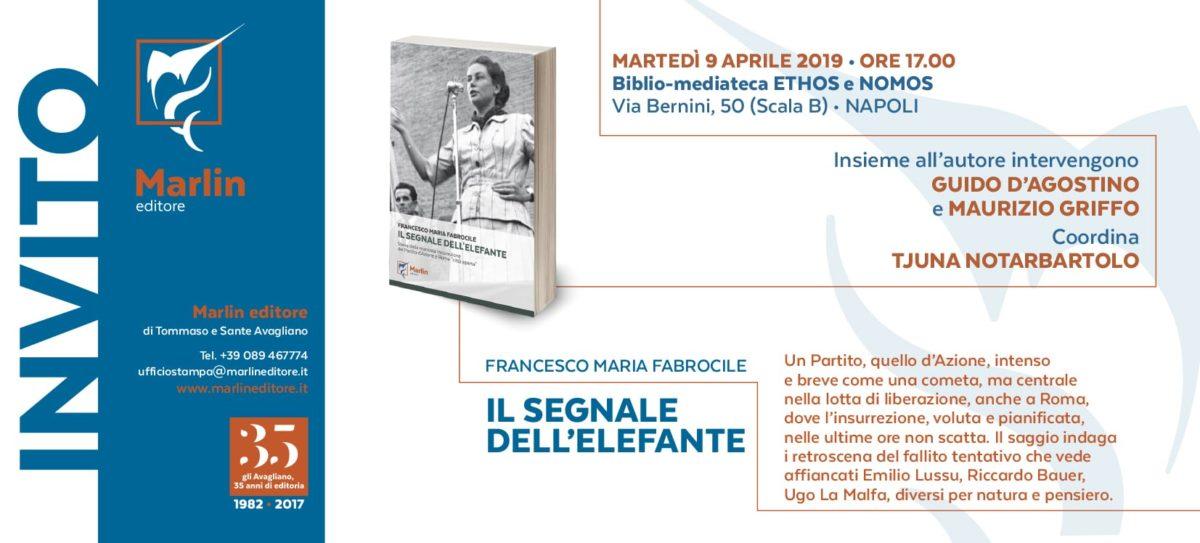 """""""Il segnale dell'elefante"""" il libro di Francesco Maria Fabrocile presentato a Napoli"""