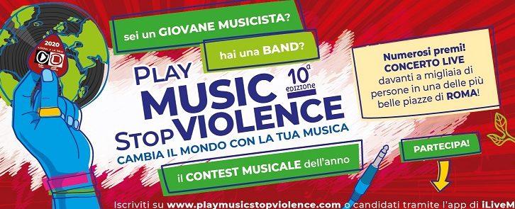 Aperte le iscrizione al contest musicale Play Music Stop Violence