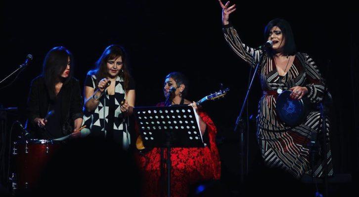 Il quartetto delle Sesè Mamà sul palcoscenico del Teatro Karol