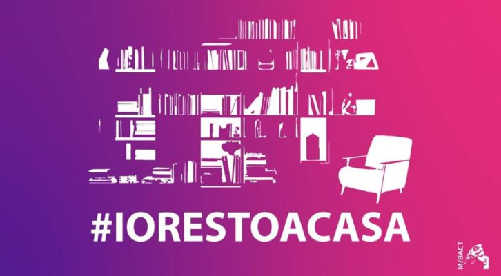 Anche il mondo dell' arte e della cultura si mobilita dando il via alla campagna #iorestoacasa