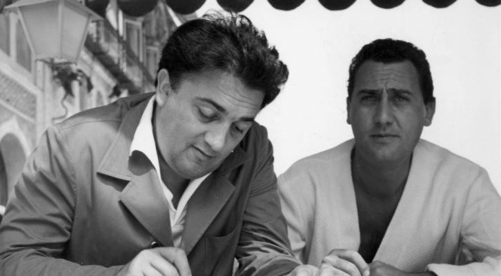 Federico Fellini e Alberto Sordi: due grandi del cinema mondiale