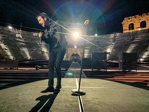 Diodato all'Arena di Verona per l'Europe Shine a Light – Accendiamo La Musica