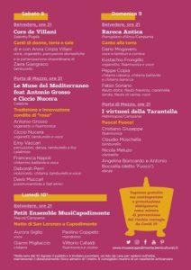 Tutto pronto per la terza edizione del Festival della Musica Popolare del Sud Italia (programma festival musica popolare 212x300)
