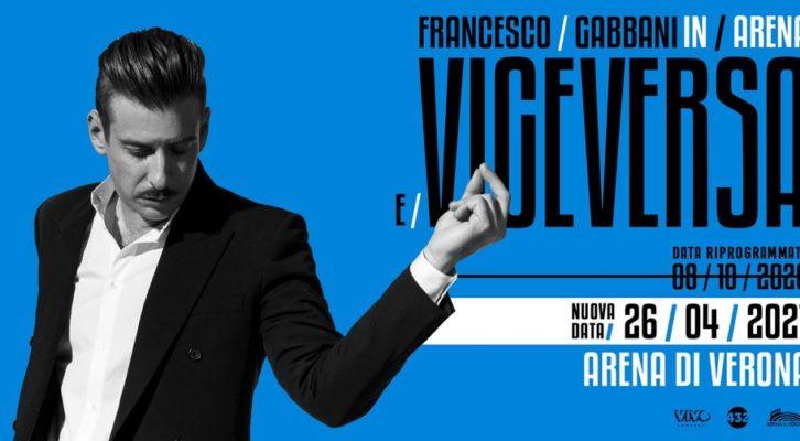 Spostato il concerto di Francesco Gabbani all'Arena di Verona