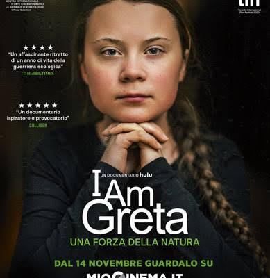 """""""I am Greta"""", il film che racconta la storia dell'adolescente attivista per il clima Greta Thunberg"""