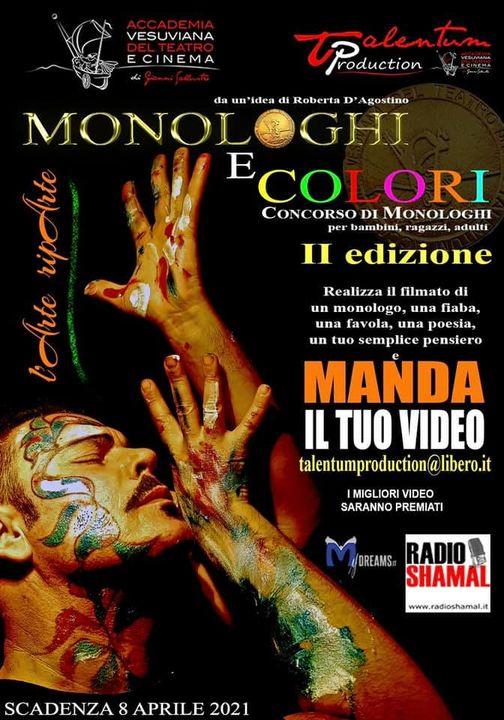 """Al via """"Monologhi e colori – Concorso di monologhi"""" seconda edizione – Il regolamento"""