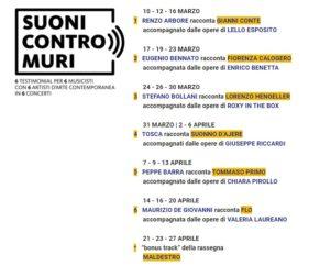 Suoni Contro Muri: 6 testimonial per 6 musicisti con 6 artisti d'arte contemporanea in 6 concerti (suoni contrpmuri programma 300x242)