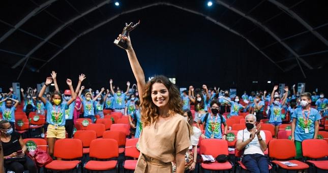 Giusy Buscemi al Giffoni50Plus: «Le donne possono dare un punto di vista diverso al cinema»