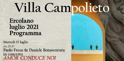 """""""Amor conduce noi"""" la rassegna estiva in programma presso Villa Campolieto"""